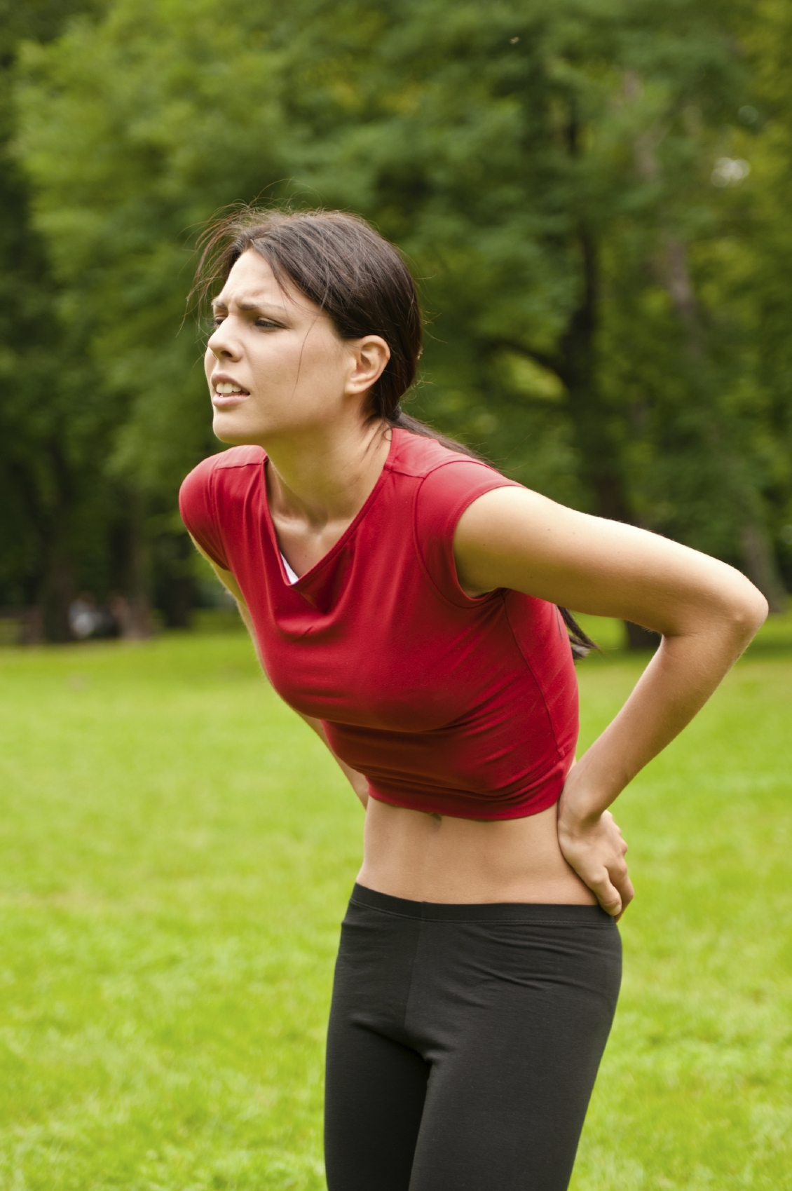 Woman who wants to workout but can't because of back pain