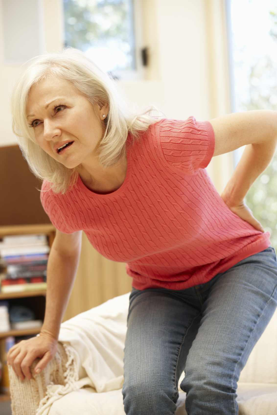 woman with severe back pain